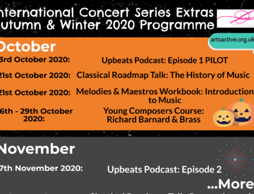 International Concert Series Extras Autumn & Winter Programme