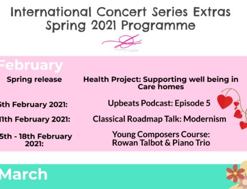 International Concert Series Extras Spring Programme